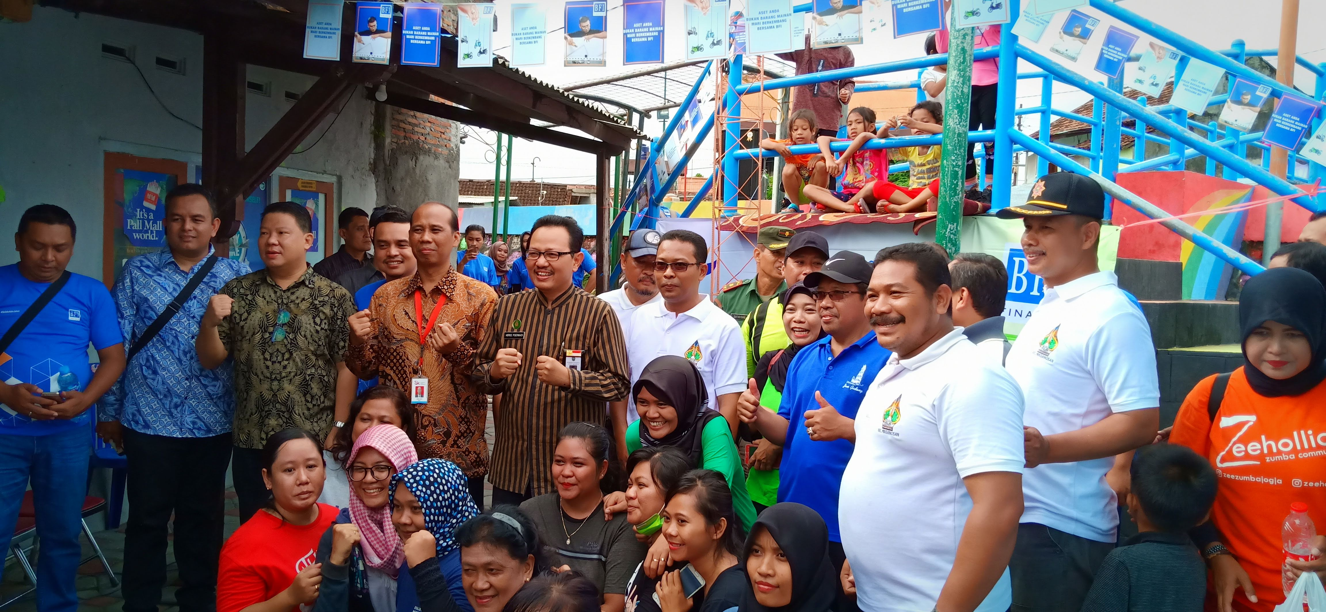 Jajaran BFI dan Wakil walikota Yogyakarta beserta Warga Bintaran